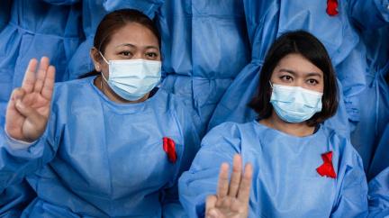 Lékaři v Barmě stávkují na protest proti převratu: Režim nemá úctu k našim pacientům