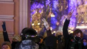 Protesty v Rusku na podporu zadrženého Alexeje Navalného