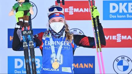 Markéta Davidová má zlato z mistrovství světa v biatlonu