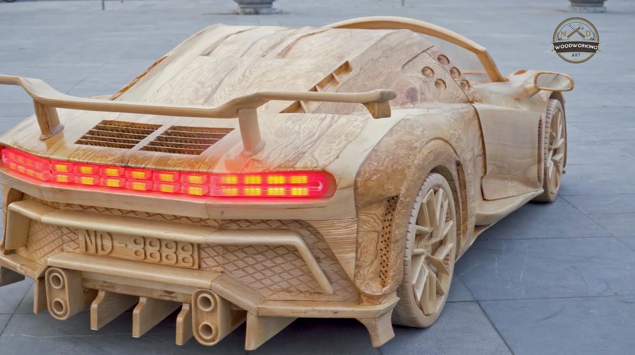 Dřevěné Bugatti