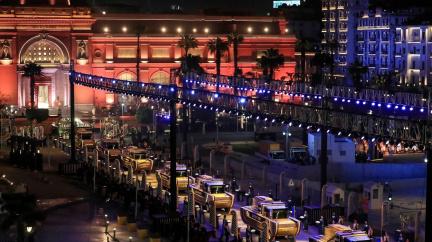 OBRAZEM: Káhirou projelo 'Zlaté procesí' slavných faraonů