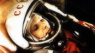 Jurij Gagarin před startem do vesmíru.