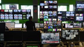 studio televizní stanice Euronews v Lyonu