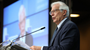 Evropská unie stojí jednotně a solidárně za Českou republikou, prohlásil šéf unijní diplomacie Borrell
