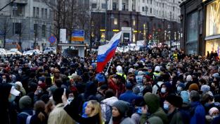 Podporovatelé Navalného se včera sešli na demonstraci
