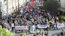 Spolek Milion chvilek v Praze demonstroval proti Benešové