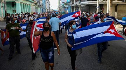 Protesty v ulicích Havany. Protivládní demonstrace na Kubě jsou největší za téměř 30 let