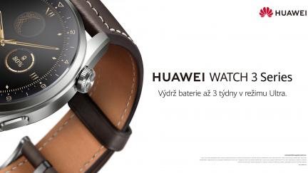 Nové hodinky řady HUAWEI WATCH 3 přinášejí dlouhou výdrž baterie, výjimečný design a chytré ovládání