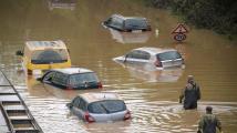 Katastrofální záplavy v Německu a Belgii