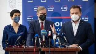 Koalice Spolu tvořená ODS, TOP 09 a KDU-ČSL si polepšila o 1,5 procentního bodu a získala by 21,5 procent