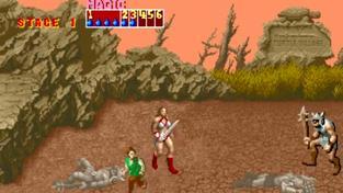 Golden Axe Arcade - Tyris gameplay