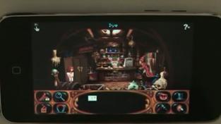 Simon the Sorcerer 2 - záběry z hraní na iPhone