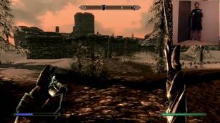 The Elder Scrolls V: Skyrim - hraní s Kinectem