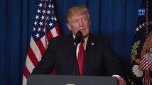Trump oznamuje útok na Sýrii