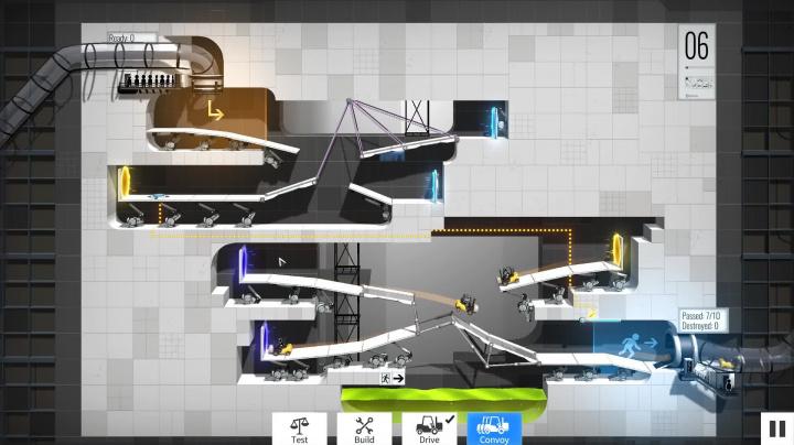 Bridge Constructor Portal - Gameplay