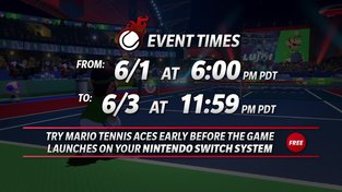Mario Tennis Aces - Pre-launch Online Tournament Details