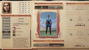 Pathfinder: Kingmaker – Tvorba postavy