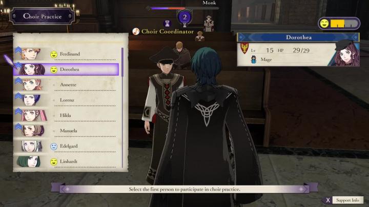Fire Emblem: Three Houses - Záběry z hraní