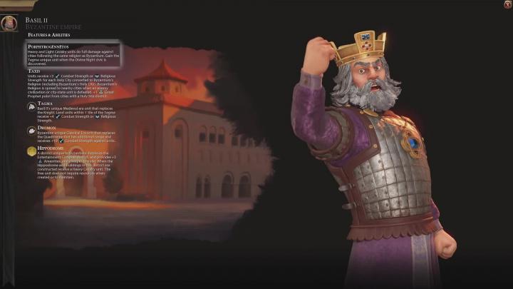 Civilization VI - Byzantská říše
