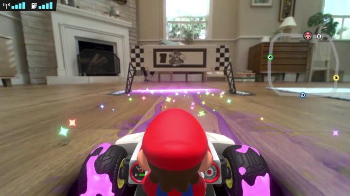 Mario Kart Live: Home Circuit - Záběry z hraní s osvětlením principů