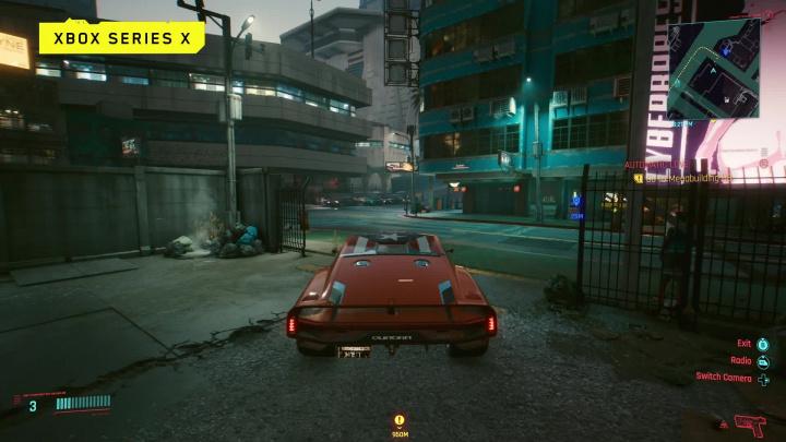 Cyberpunk 2077 – Záběry z hraní na Xboxu One X a Xboxu Series X