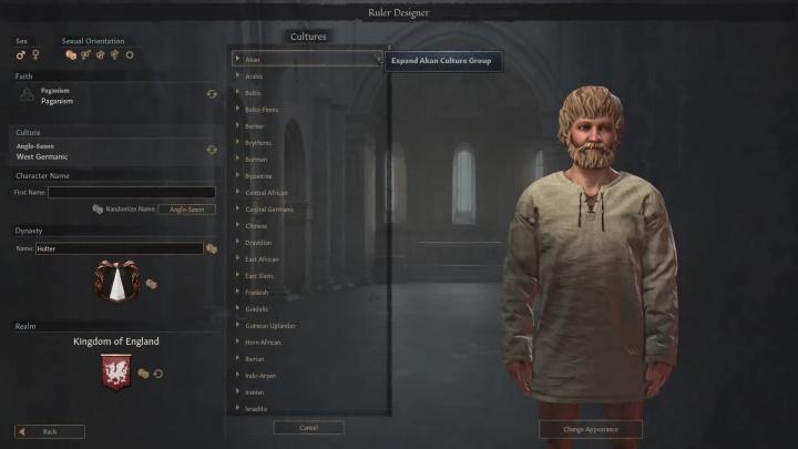 Crusader Kings 3 - tvorba vlastního vládce